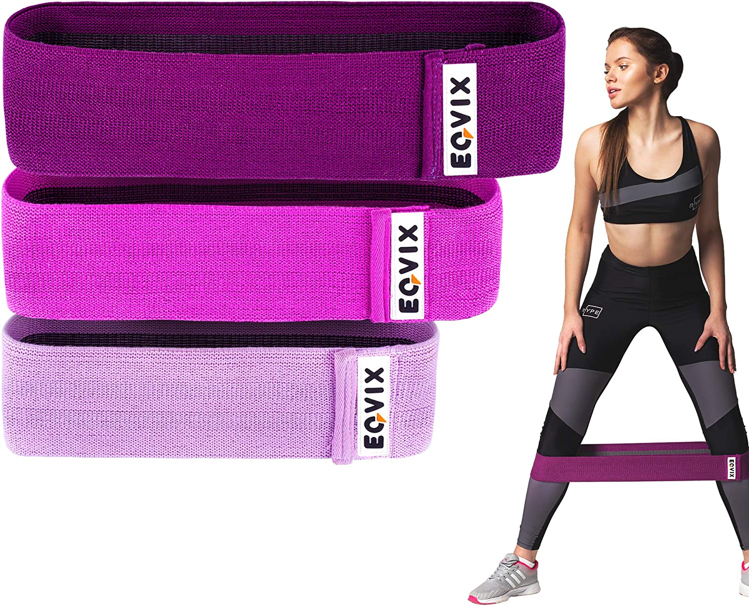 Fabric Resistance Bands Heavy Duty Booty Bands Glute Leg Set Hip Circle Non Slip