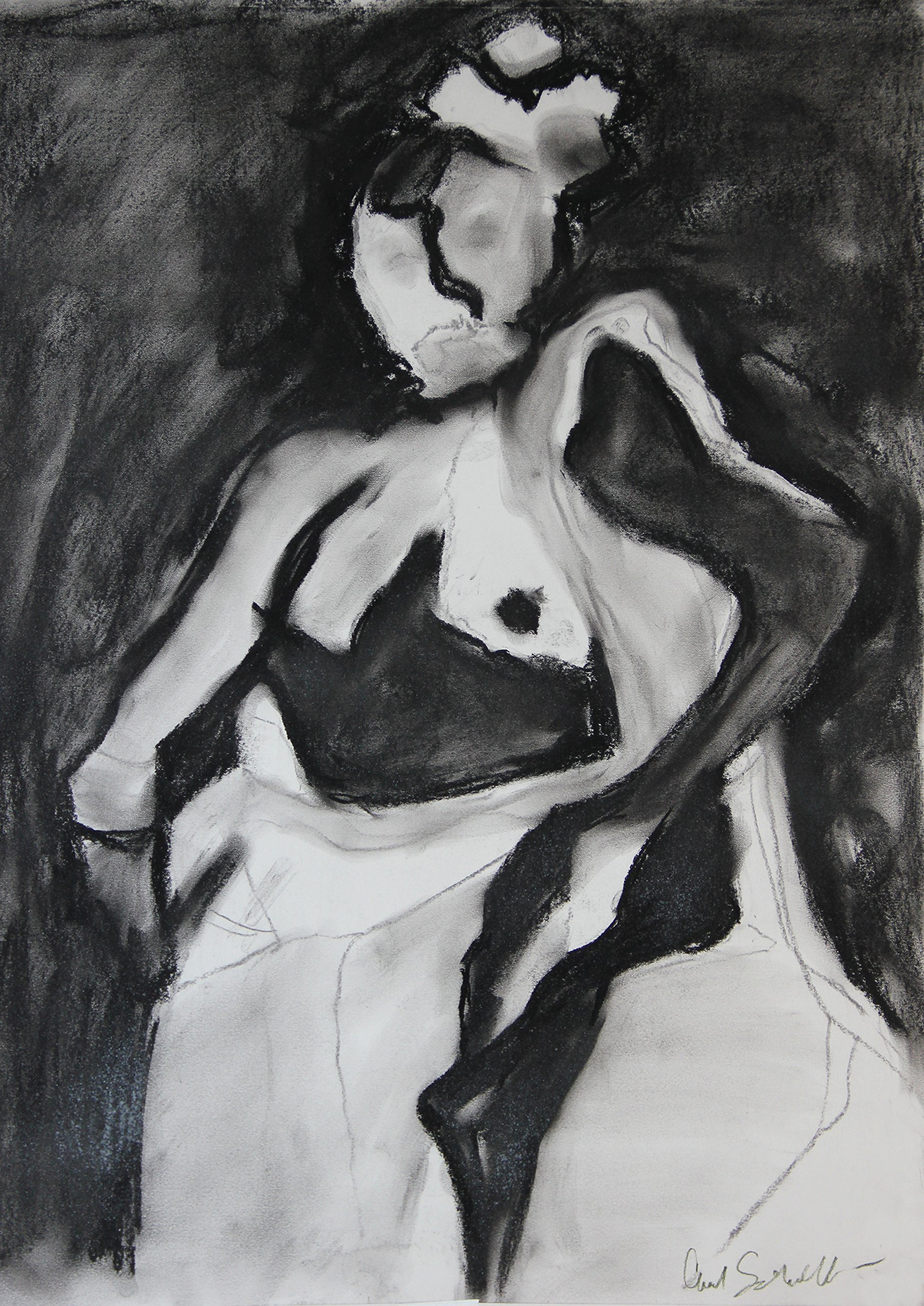 Dance - Original Charcoal and Pastel Drawing - 18'' x 24'' by Gifts By Carol Frances