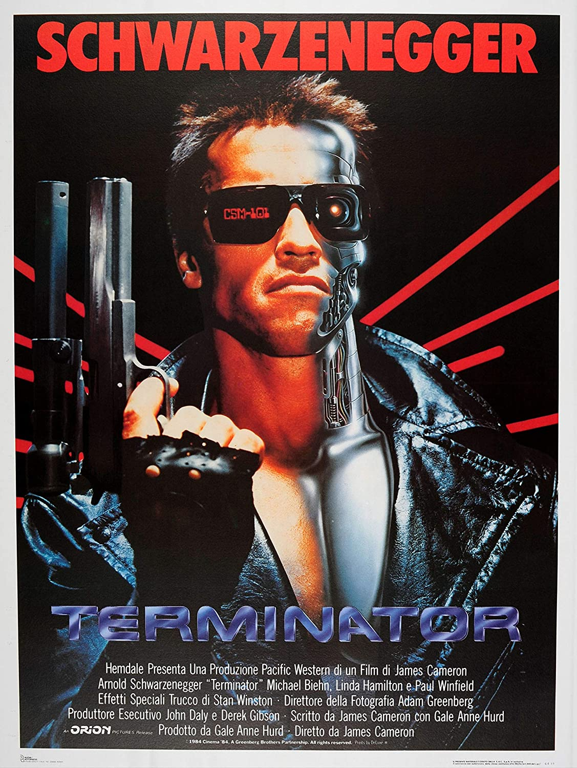 Art print POSTER CANVAS vintage terminator poster