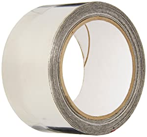 3M 3361 Silver High-Temperature Stainless Steel Tape - 2 in. x 9 ft. Non Magnetic Acrylic Adhesive Foil Tape. Safety Tapes
