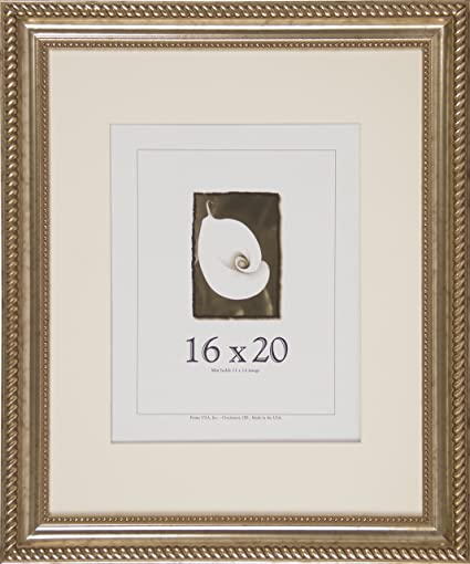 Amazon.com - 16x20 Antique Wood Picture Frame (Silver) - Single Frames
