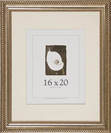 Amazoncom 16x20 Antique Wood Picture Frame Silver Single Frames