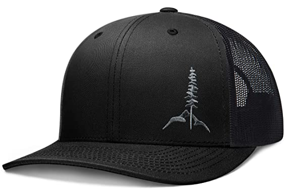 f4b54504 Larix Gear - The Tamarack - Black Snapback Trucker Hats for Men and Women -  Gift