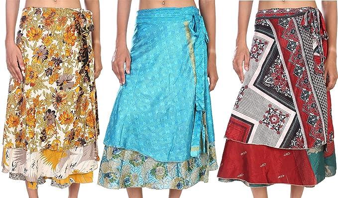 b1537afde1b09 Indian Wrap Midi Wrap Skirt Wholesale Magic Wrap Womens Printed ...