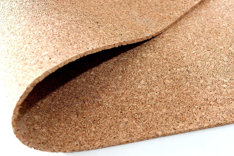Rollo de corcho de 8 mm de grosor, 10 m² de ancho, 1 m de largo, 10 m de largo, 8 mm de grosor, aislamiento acústico para paredes, suelos, techos, ...