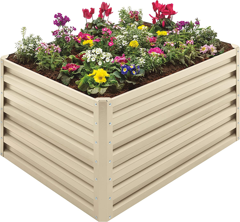 Stratco Beige Double Height 20 CU FT Capacity Raised Garden Bed
