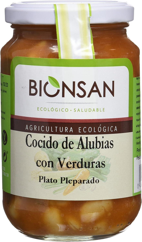 Bionsan Cocido Ecológico de Alubias con Verduras | 6 Botes de 370 gr | Total: 2220 gr