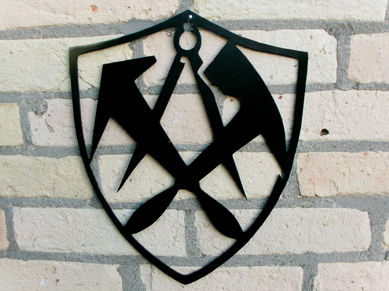 Dachdecker zunftzeichen  DACHDECKER in WAPPENFORM Innungsschild Zunftzeichen H=40cm-90cm ...