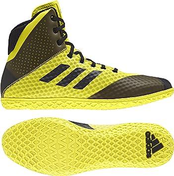 new concept fde64 5481e Adidas Tapis Wizard 4 Wrestling Chaussures - - Jaune Noir, 2 M US