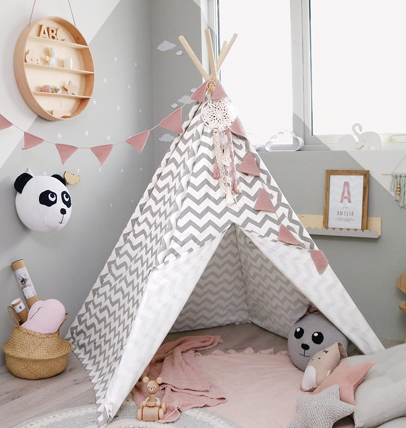 Tiny Land Teepee Tent For Kids Children Play Tent For