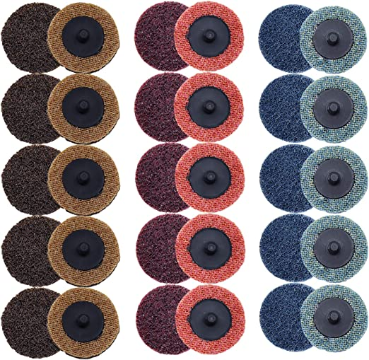 "100 3/"" Roloc Surface Conditioning Sanding Disc Mixed"