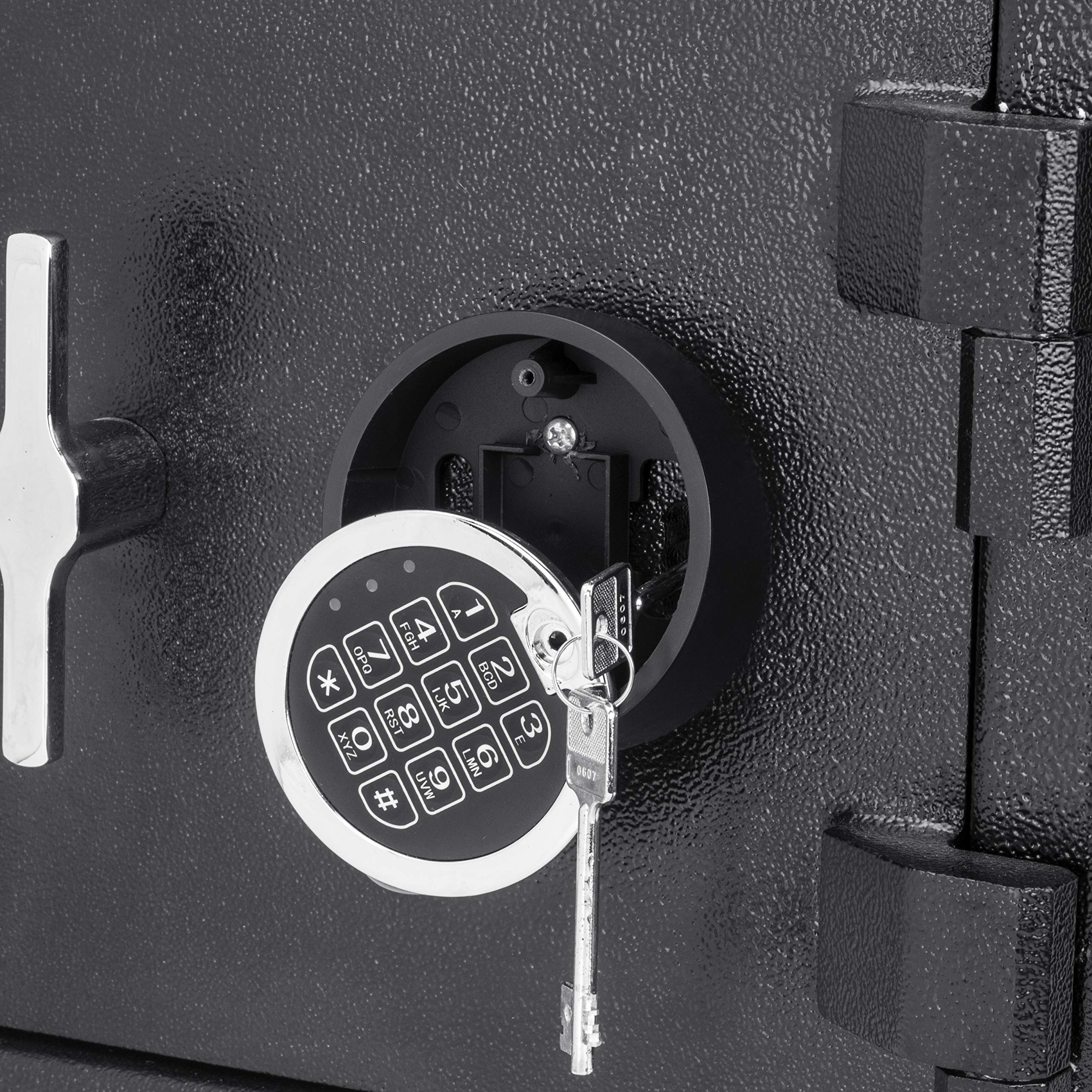 Winbest Steel Digital Keypad Cash Drop Front Loaded Depository Safe Drop Box Storage 1.12 Cubic ft by winbest (Image #3)