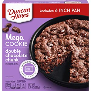 Duncan Hines Mega Cookie Double Chocolate Chunk Pan Cookie Mix, 8.4 OZ