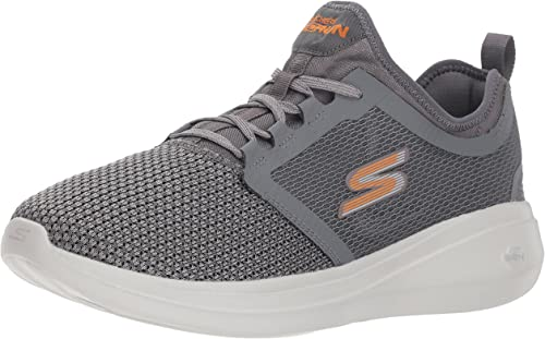 Skechers Mens GO Run Fast 55102 Sneaker, Charcoal/Orange, 9.5 M ...