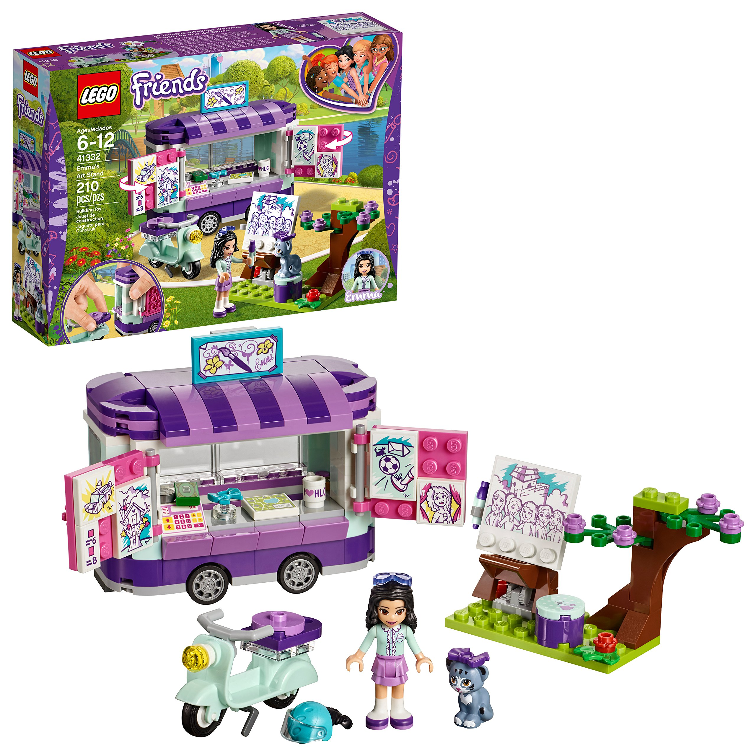 LEGO Friends Emma's Art Stand 41332 Building Set (210 Pieces) by LEGO