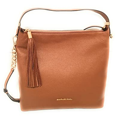 6b9e24864 Image Unavailable. Image not available for. Color: Michael Kors Bedford  Large Leather Top Zip Shoulder Bag ...