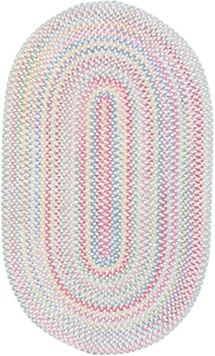 Capel Rugs Baby's Breath 11 x 14 Oval Braided Area Rug Natural
