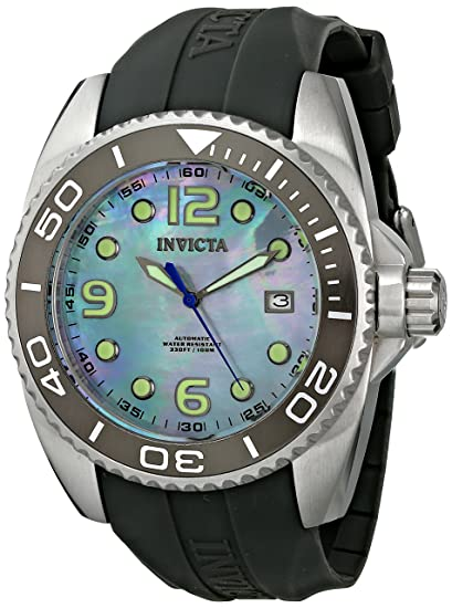 INVICTA 6998 - Reloj de automático para hombre, con correa de plástico, color negro