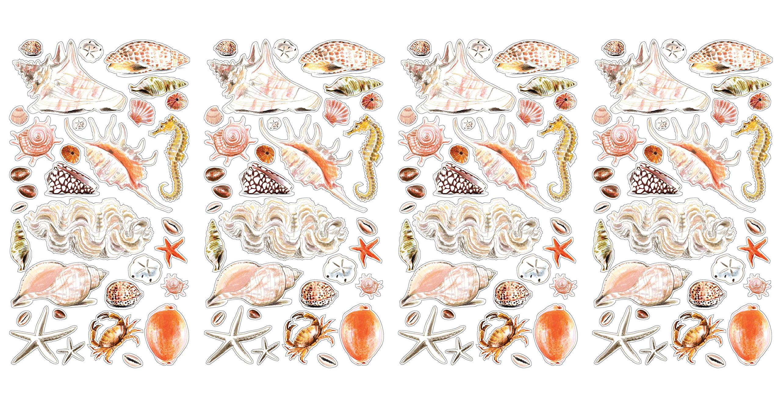 Sticko Sea Shells and Sand Stickers (Fоur Paсk)