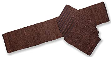 72u0026quot; Brown Leather Table Runner U0026 8 ...