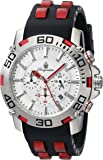 Burgmeister Men's Quartz Watch with White Dial Chronograph Display and Black Bracelet BMT01-182