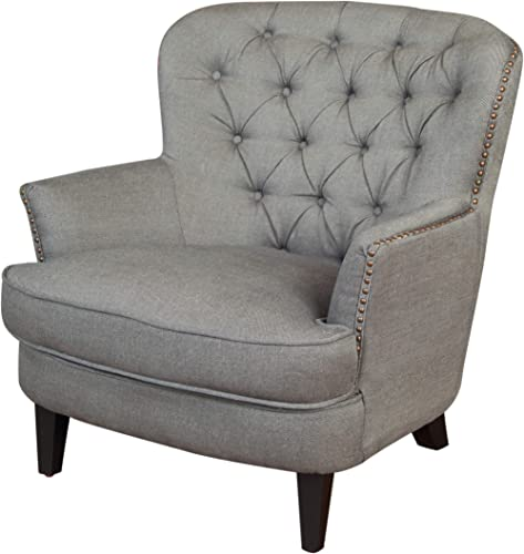 Christopher Knight Home Tafton Tufted Fabric Club Chair, Grey