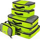 Savisto Packing Cubes - Small, Medium, Large, XL (6-Piece Set) - Green