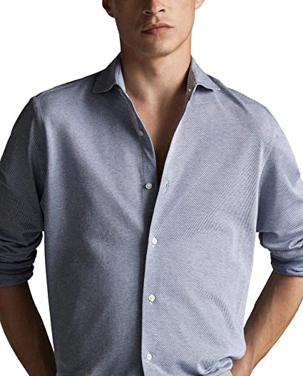 MASSIMO DUTTI 0174/035/400 - Camisa de Manga Corta para ...