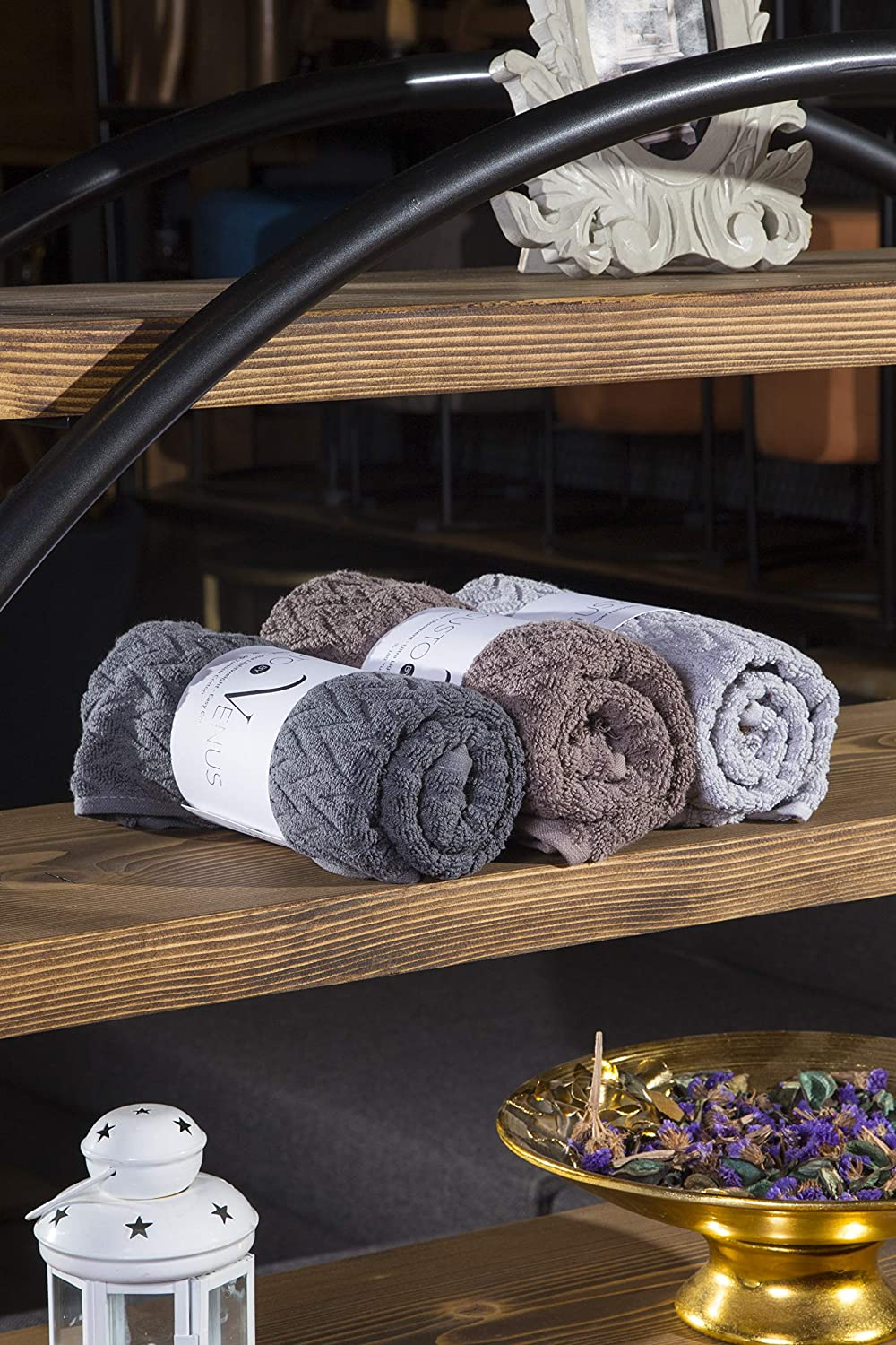 3 Piece Premium Quality Cotton Bath Towel Set - 1 (Assorted Pack A, 19 x 35 Inches): Kitchen & Dining