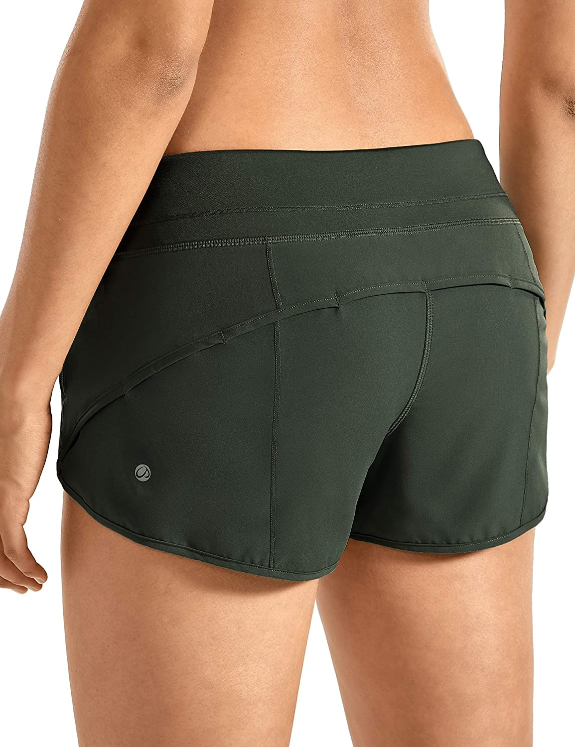 CRZ YOGA Women's Quick-Dry Workout Sports Active Running Shorts - 2.5 Inches