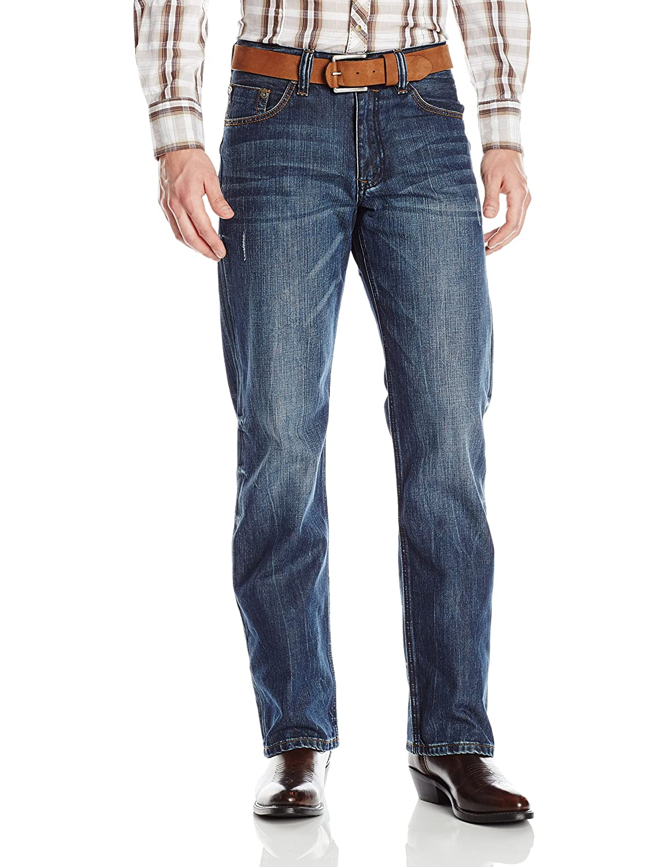 StetsonメンズModern Straight Leg Jean B00VPV2WDG 40W x 36L|Medium Blue Blasted Stone Medium Blue Blasted Stone 40W x 36L