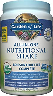 garden of life fit. Garden Of Life Raw All-in-One Nutritional Shake, Vanilla, 969g Fit L