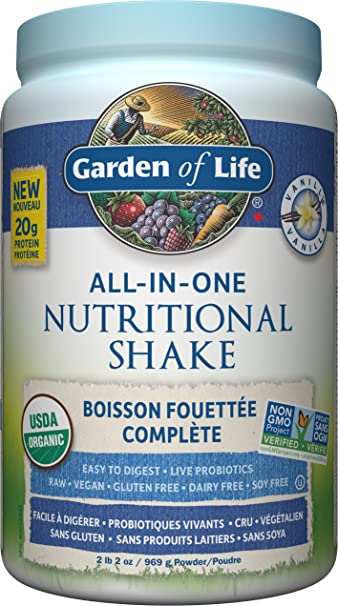 Garden of Life Raw All-in-One Nutritional Shake, Vanilla, 969g