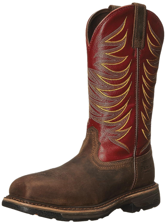 55ed85d5e8e Ariat Men's Workhog Wide Square Toe Tall II Compositie Toe Distressed Boot