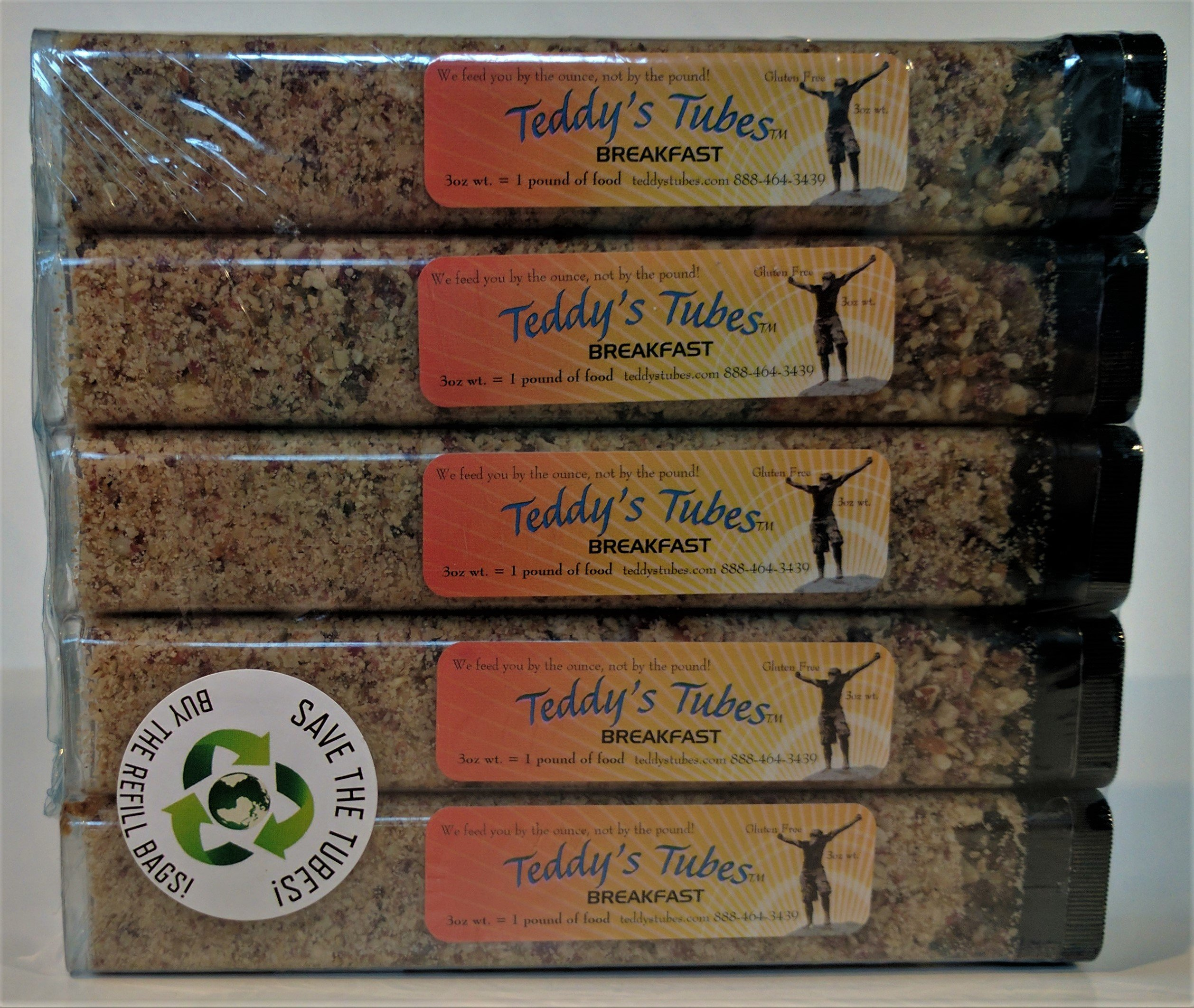 Teddy's Tubes Meal Replacement - Breakfast Tubes - 5 Pack