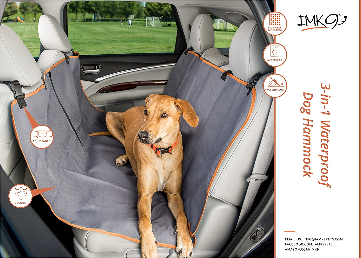 Medium image of amazon     limited time   dog car hammock   back seat cover for dogs   waterproof   use mat on car seat or bench seats   large size protects most cars