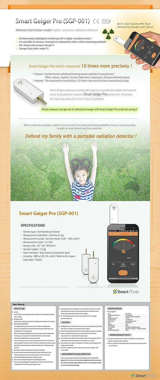 Smart Geiger Pro SGP-001 Medidor de Radiación para el Smartphone iOS Andriod contador Geiger Medir Radiaciones Contador Detector de Radiación Geiger ...