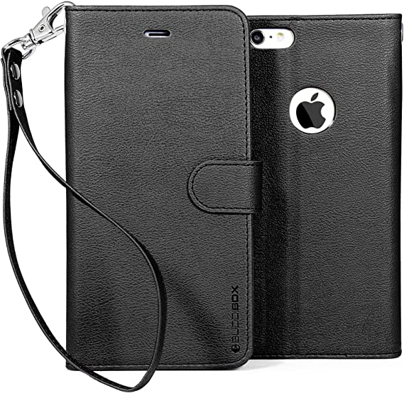 Black leather iPhone 6s plus cover