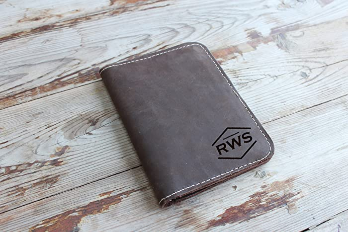 cf0a8f2d092 Amazon.com: Personalized leather travel wallet. Carry all you need when  travelled. Passport/cash/cards organizer. Compact travel accessory case:  Handmade