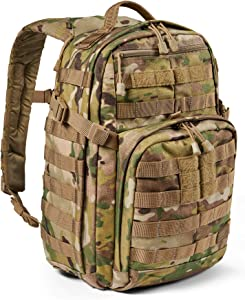 5.11 Tactical Backpack – Rush 12 2.0 – Military Molle Pack, CCW and Laptop Compartment, 24 Liter, Small, Style 56561 – Mulitcam