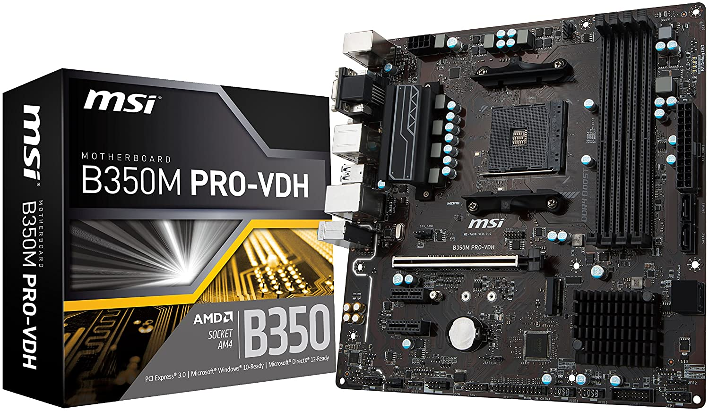 3rd Gen Ryzen Compliant AM4 DDR4 HDMI DVI USB 3 Micro-ATX Motherboard A320M-A PRO 2nd MSI ProSeries AMD A320 1st
