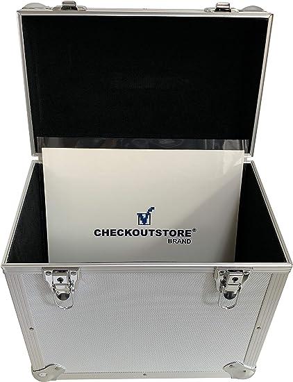 CheckOutStore Caja de Almacenamiento para Discos de Vinilo de 30 ...