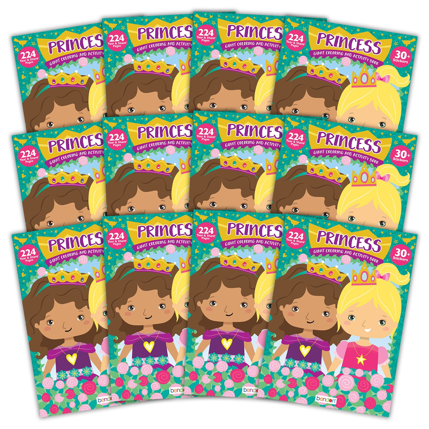 Bendon 43159-Amzb Princess 224-Page Coloring and Activity Book 12 Count Bendon Inc