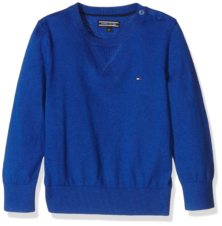 Tommy Hilfiger Jungen Pullover Cotton Cashmere Cn Sweater L/s