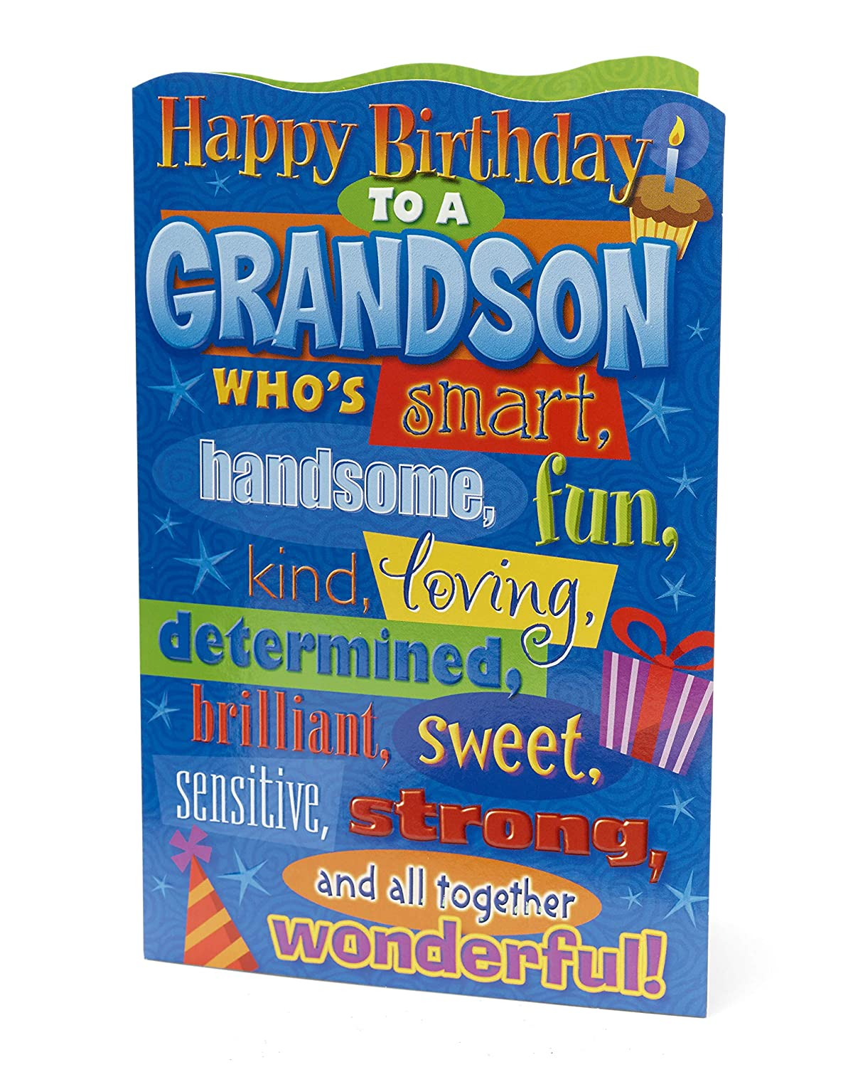 Amazon Happy Birthday Grandson Greetings Card Office Products