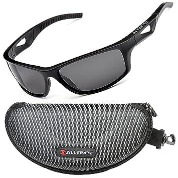 ZILLERATE TR90 - Gafas de sol polarizadas para hombre, protección UV400, marco irrompible ligero, para ciclismo, pesca, golf,…