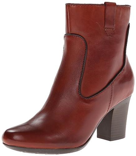 CLARKS New Women's Stroll Vine Ankle Boots Rust 5.5