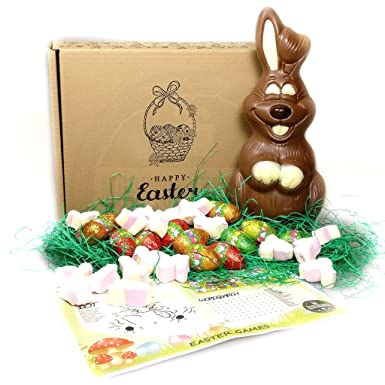 Luxury giant bunny easter gift box giant chocolate easter bunny luxury giant bunny easter gift box giant chocolate easter bunny foiled easter eggs and negle Choice Image