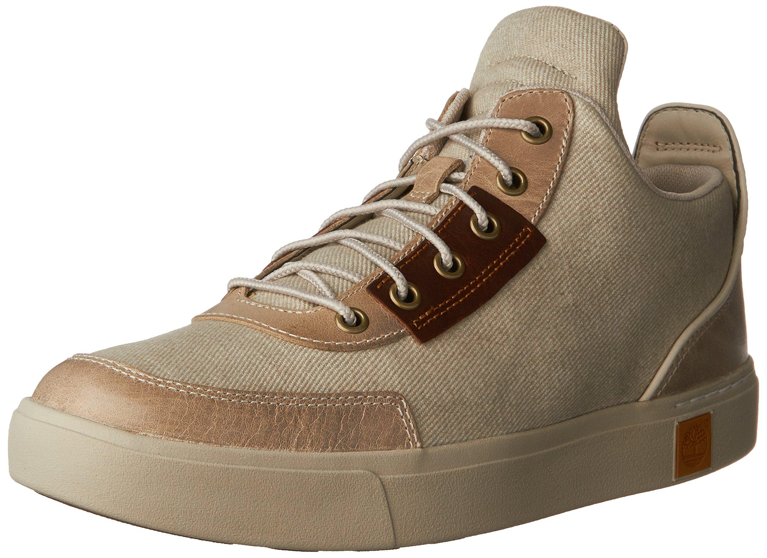 Timberland Men's Amherst Chukka Fashion Sneaker, String Cotton Canvas, 9.5 W US