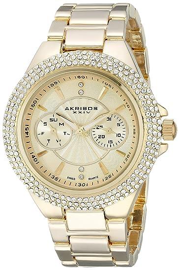 Armbanduhr Damen QuarzUhren Xxiv Ak789yg Akribos Analog FKTlJ1c